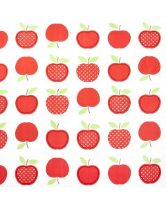 Red Apple Design PVC Vinyl Wipe Clean Tablecloth