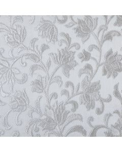 Silver Embossed Floral PVC Vinyl Tablecloth
