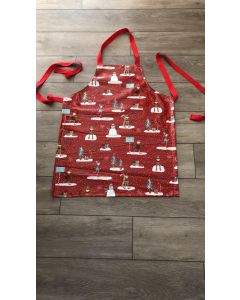 Red Elves Adult and Child Oilcloth Wipe Clean Apron
