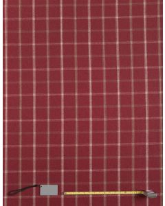 Lewis Red Tartan Curtain and Upholstery Fabric