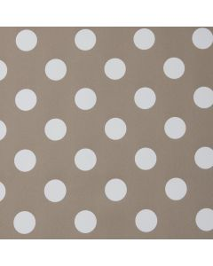 Dotty Light Brown/Beige Polka Dot PVC Vinyl Wipe Clean Tablecloth