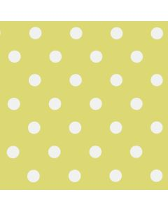 Lime Green & White Polka Dot PVC Vinyl Tablecloth