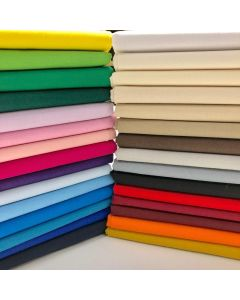 100% Cotton Fabric - 30 Different Colours