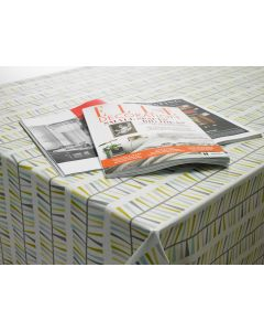 Malmo Floral Scandinavian Oilcloth Wipe Clean Tablecloth