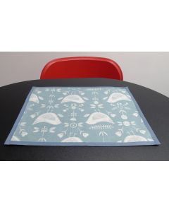Duck Egg Narvik Oilcloth Wipe Clean Set of 4 Placemats