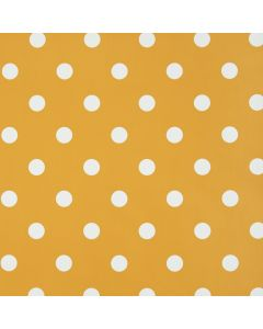 Orange and White Polka Dot PVC Vinyl Wipe Clean Tablecloth