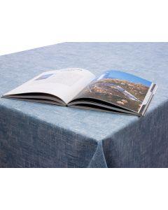 Dotty Grey/Blue Wipe Clean Oilcloth