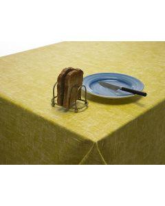 Plain Mustard Yellow Linen Effect Oilcloth Tablecloth