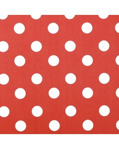 Red and White Polka Dot PVC Vinyl Wipe Clean Tablecloth