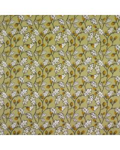Sage Acorns and Leaves Oilcloth Wipe Clean Tablecloth