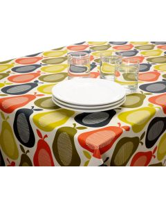 Orla Kiely Pears Wipe clean Tablecloth Oilcoth