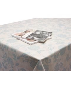 Duck Egg Bird Garden Floral Matte Oilcloth Wipe Clean Tablecloth