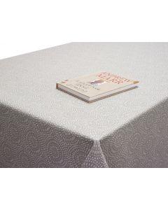 Light Grey Popcorn Oilcloth Tablecloth