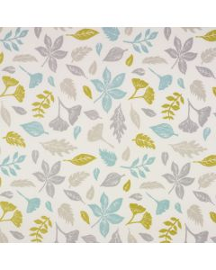 Taupe Grey Duck Egg Autumn Leaf Oilcloth Wipe Clean Tablecloth