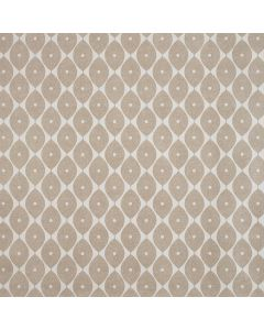 Taupe Geometric Ovals PVC Vinyl Wipe Clean Tablecloth