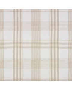 Taupe Light Check PVC Vinyl Wipe Clean Tablecloth