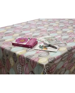 Modern Leaves Wipe Clean Oilcloth