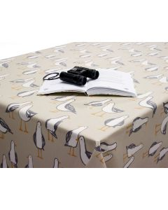 Natural Bees Oilcloth Tablecloth Fabric