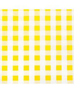 Yellow and White Gingham PVC Vinyl Wipe Clean Tablecloth