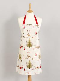 beige woodland animals oilcloth apron